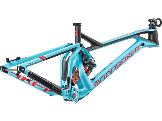 Mondraker Dune Carbon XR Cadre de vélo, light blue/flame red/carbon